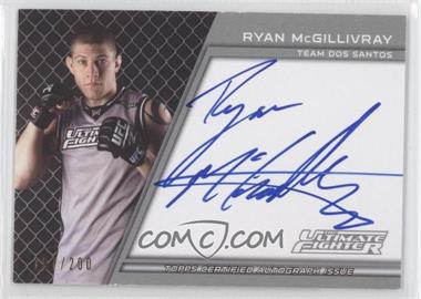 2011 Topps UFC Title Shot - The Ultimate Fighter Autographs #TUF-RMG - Ryan McGillivray /200