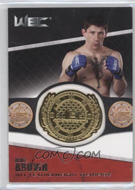 2011 Topps UFC Title Shot Championship Belt Plate Relic #CB-MB - Mike Brown