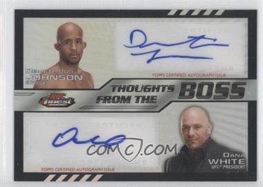 2012 Topps UFC Finest - [???] #TFDB-JOW - Demetrious Johnson /25