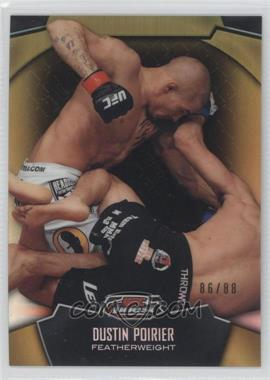 2012 Topps UFC Finest - [Base] - Gold Refractors #93 - Dustin Poirier /88
