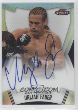 2012 Topps UFC Finest - Fighter Refractor Autographs #A-UF - Urijah Faber