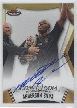 "2012 Topps UFC Finest - Fighters Autographs - Gold Refractor #A-AS - Anderson ""The Spider"" Silva (Anderson Silva) /25"