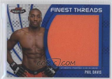 2012 Topps UFC Finest - Jumbo Finest Threads - Blue X-Fractor #JFT-PD - Phil Davis /188