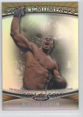 2012 Topps UFC Finest - Moments - Gold Refractor #FM-AO - Alistair Overeem /88