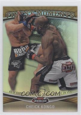 2012 Topps UFC Finest - Moments - Gold Refractor #FM-CK - Cheick Kongo /88