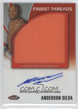 "2012 Topps UFC Finest Autographed Finest Threads #AFT-AS - Anderson ""The Spider"" Silva (Anderson Silva)"