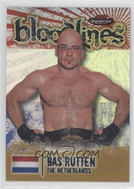 2012 Topps UFC Finest Bloodlines Gold Refractor #BL-BR - Bas Rutten /88