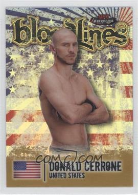 2012 Topps UFC Finest Bloodlines Gold Refractor #BL-DC - Donald Cerrone /88