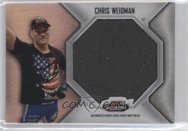 2012 Topps UFC Finest Fight Mat Jumbo Relic #FFJM-CW - Chris Weidman
