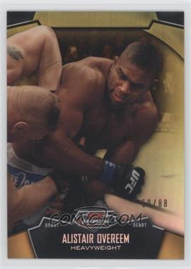 2012 Topps UFC Finest Gold Refractor #36 - Alistair Overeem /88