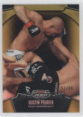 2012 Topps UFC Finest Gold Refractor #93 - Dustin Poirier /88