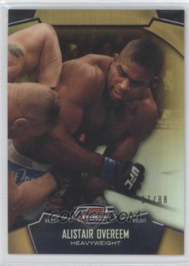 2012 Topps UFC Finest Gold Refractors #36 - Alistair Overeem /88