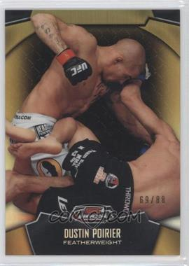 2012 Topps UFC Finest Gold Refractors #93 - Dustin Poirier /88