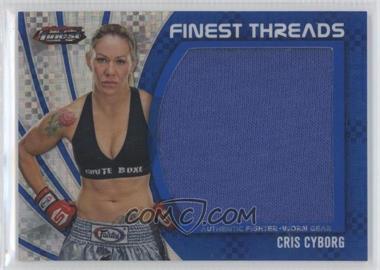 2012 Topps UFC Finest Jumbo Finest Threads Blue X-Fractor #JFT-CC - Cris Cyborg /188