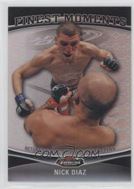 2012 Topps UFC Finest Moments Black Octo-Fractor #FM-ND - Nick Diaz /8