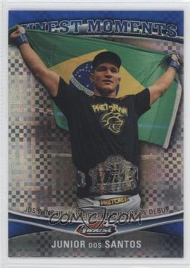 2012 Topps UFC Finest Moments Blue X-Fractor #FM-JDS - Junior Dos Santos /188