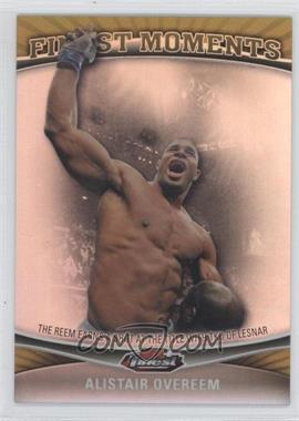 2012 Topps UFC Finest Moments Gold Refractor #FM-AO - Alistair Overeem /88