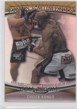 2012 Topps UFC Finest Moments Gold Refractor #FM-CK - Cheick Kongo /88