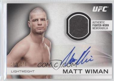 2012 Topps UFC Knockout - Fight Gear Autographs #AFG-MW - Matt Wiman /275