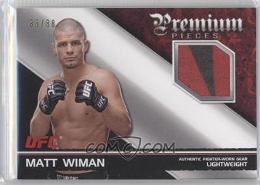 2012 Topps UFC Knockout - Premium Pieces Relics #PP-MW - Matt Wiman /88