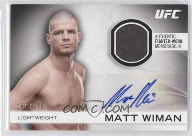 2012 Topps UFC Knockout [???] #AFG-MW - Matt Wiman /275