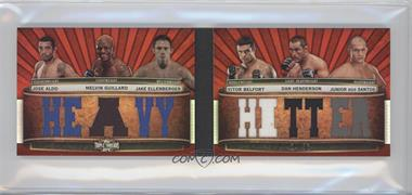 2012 Topps UFC Knockout [???] #TTRDC-AGEBHD - Jose Aldo, Melvin Guillard, Jake Ellenberger, Vitor Belfort, Dan Henderson, Junior Dos Santos /36