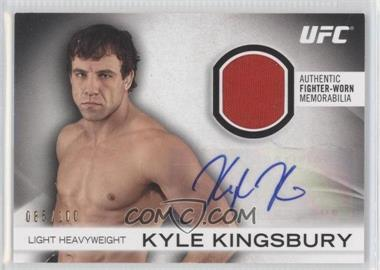 2012 Topps UFC Knockout Fight Gear Autographs #AFG-KK - Kyle Kingsbury /100
