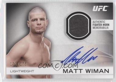 2012 Topps UFC Knockout Fight Gear Autographs #AFG-MW - Matt Wiman /275