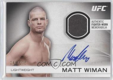 2012 Topps UFC Knockout Fight Gear Autographs #AFG-MW - Matt Wiman /275