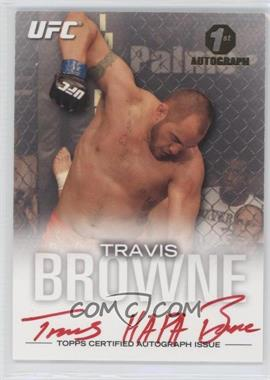 2012 Topps UFC Knockout Fighter Autographs Red Ink #FA-TB - Travis Browne /15