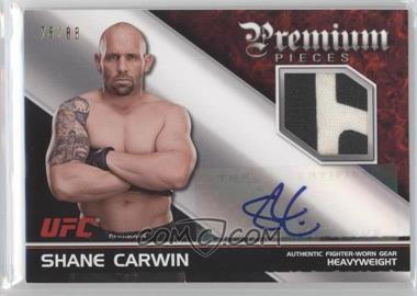 2012 Topps UFC Knockout Premium Pieces Relics Autographs [Autographed] #APP-SC - Shane Carwin /88