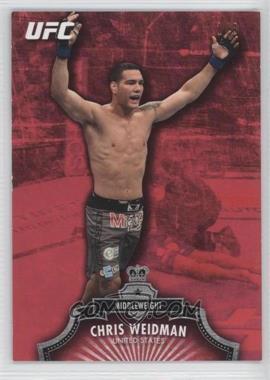 2012 Topps UFC Red #42 - Chris Weidman /8
