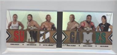 2013 Topps UFC Knockout [???] #TTRDC-RHLCCM - Ronda Rousey, Dan Henderson, Hector Lombard, Mark Coleman, Daniel Cormier, Sara McMann /27