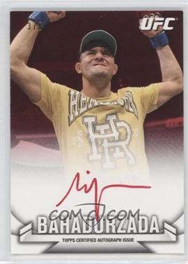 2013 Topps UFC Knockout Autographs Red Red Ink #KA-SB - Siyar Bahadurzada /8