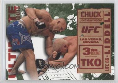 2013 Topps UFC Knockout Ultimate Knockouts Green #UKO-25 - Chuck Liddell vs. Tito Ortiz /88