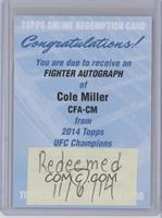 Cole Miller [REDEMPTION Being Redeemed]