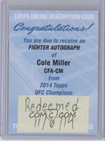 Cole Miller [REDEMPTIONBeingRedeemed]