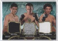 Nick Diaz, Jake Shields, Gilbert Melendez /18