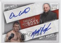 Dana White, Matt Hughes /50