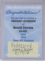 Donald Cerrone [REDEMPTIONBeingRedeemed]