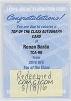 Renan Barao [REDEMPTIONBeingRedeemed]
