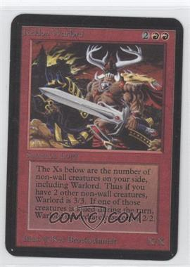 1993 Magic: The Gathering - Core Set: Alpha - Booster Pack [Base] #NoN - Keldon Warlord