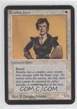 1993 Magic: The Gathering - Core Set: Alpha Booster Pack [Base] #NoN - Benalish Hero