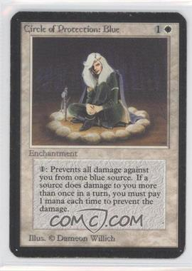 1993 Magic: The Gathering - Core Set: Alpha Booster Pack [Base] #NoN - Circle of Protection: Blue