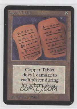 1993 Magic: The Gathering - Core Set Alpha Booster Pack [Base] #NoN - Copper Tablet