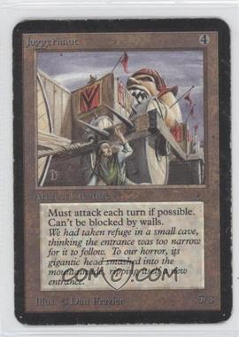 1993 Magic: The Gathering - Core Set: Alpha Booster Pack [Base] #NoN - Juggernaut