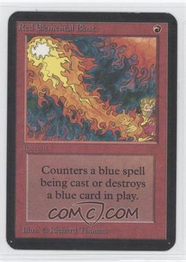 1993 Magic: The Gathering - Core Set: Alpha Booster Pack [Base] #NoN - Red Elemental Blast