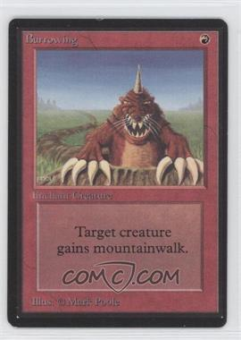 1993 Magic: The Gathering - Core Set: Beta - Booster Pack [Base] #NoN - Burrowing