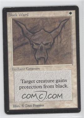 1993 Magic: The Gathering - Core Set: Beta Booster Pack [Base] #NoN - Black Ward
