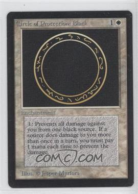 1993 Magic: The Gathering - Core Set: Beta Booster Pack [Base] #NoN - Circle of Protection: Black